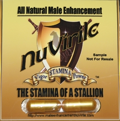 "Male Enhancement by NuVirile Double Capsule ""Trial Pack"" all natural male enhancement, natural male enhancement, male enhancement"