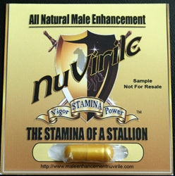 "Male Enhancement by NuVirile Single Capsule ""Trial Pack"" male enhancement, all natural male enhancement, natural male enhancement"